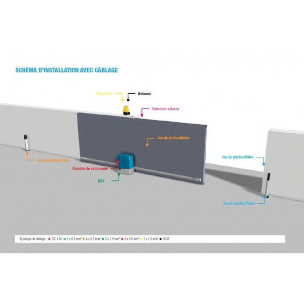 Kit Portail Coulissant Bxv Connect Line Came 24v 400kg