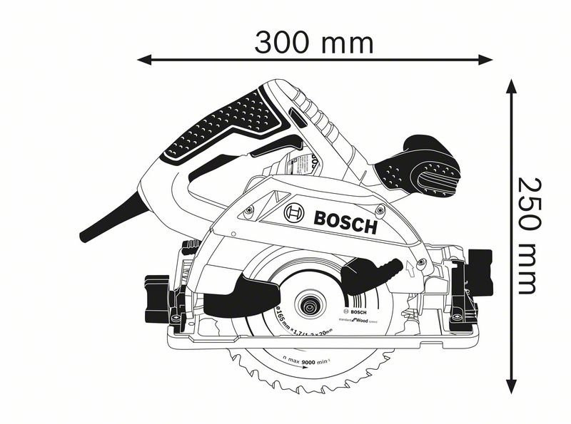 Scie circulaire BOSCH GKS 55+ G Professional - 1200W Ø 165 mm - 0601682000