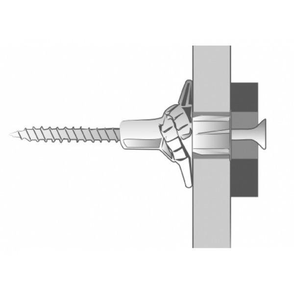 Boîte de 200 pièces Chevilles nylon Elektro SCELL-IT - Ø 6 x 35 mm - pour vis 4 - ELEK06