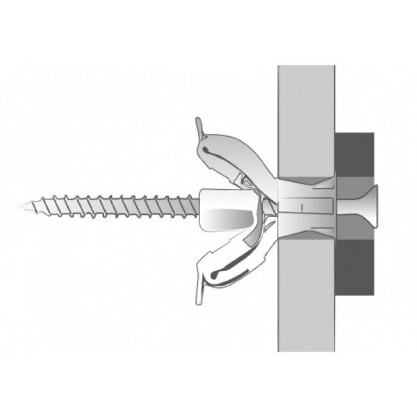 Boîte de 100 pièces Cheville nylon Tekno SCELL-IT - Ø 8 x 42 mm - pour vis 4-5 - TEKNO08