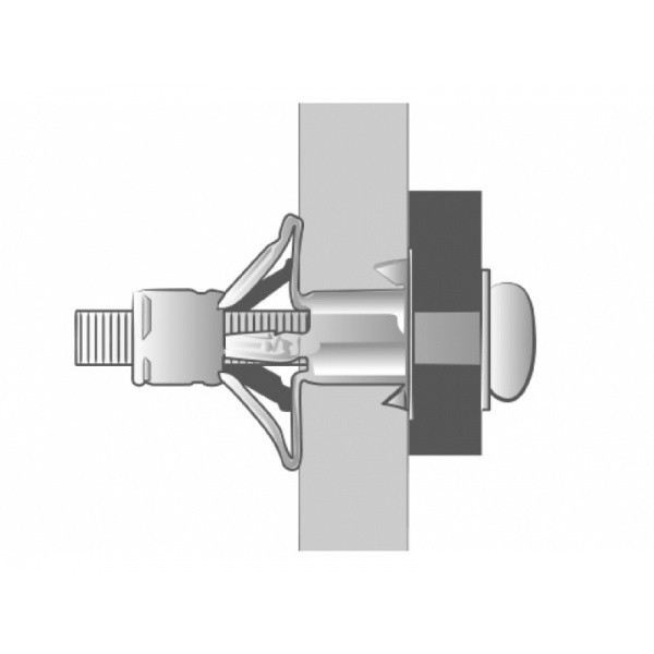 Boîte de 100 Chevilles placo Spyder M4x38 SCELL-IT - Ép.8-15 - Vis montée perçage 8 mm - 4M-MT