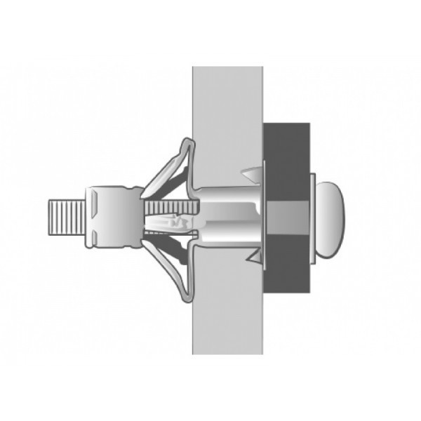 Boîte de 100 Chevilles placo Spyder M5x37 SCELL-IT - Ép.6-12 - Vis montée perçage 10 mm - 6E-MT
