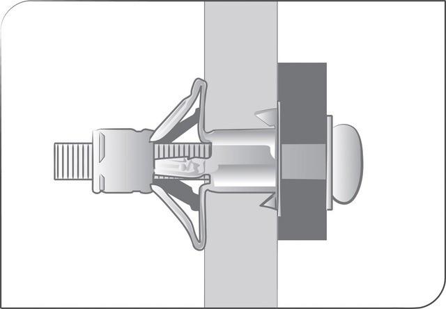Boîte de 200 Chevilles placo Spyder M4x21 SCELL-IT - Ép.0-4 - Vis montée perçage 8 mm - 4E-MT