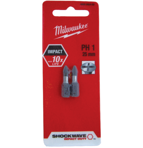Douilles magnétiques MILWAUKEE Shockwave Impact Duty - 6 pans - 13x65 mm - 4932352545