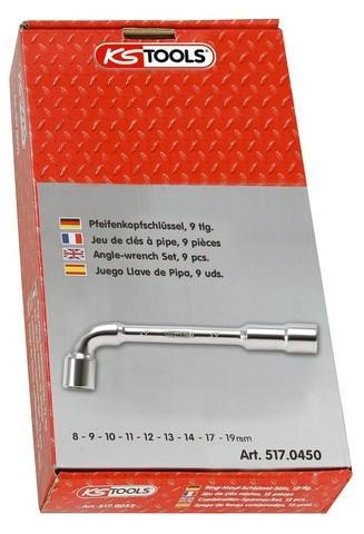 Clé à pipe débouchée 6x6 KS TOOLS - 7 mm - 517.0407