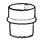 Tuyau cylindrique Ø 80 mm Aluzinc AMELUX - 2m - 50069