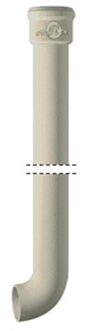 Pieds de chute résidentiel coudés - Ø intérieur 75 mm Longueur : 2 m - Emboîtement standard - 155574