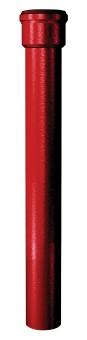 Dauphin pavillonnaire droit - Ø100 mm Longueur 1 m - Rouge - Sans joints - 155520