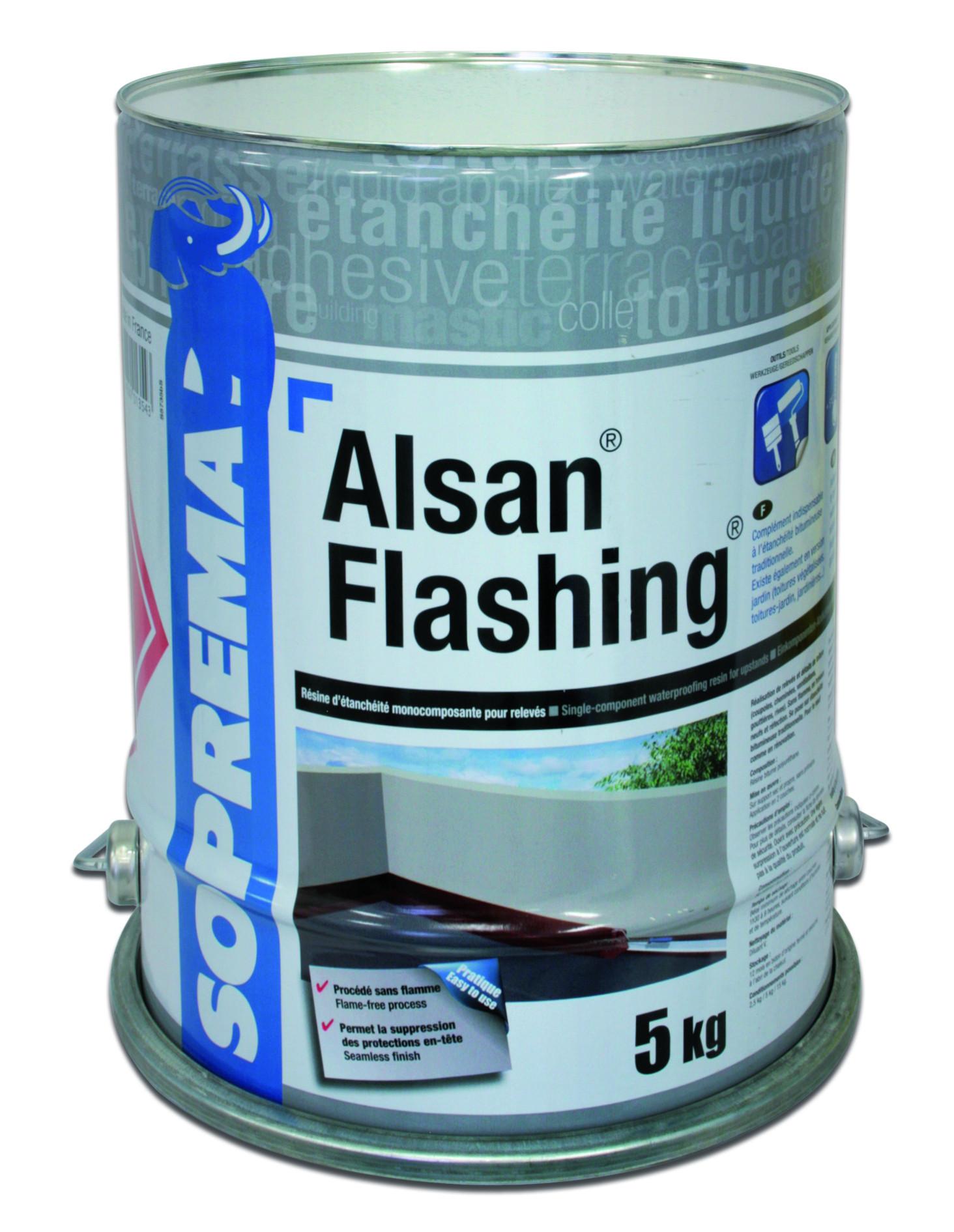 Résine d'étanchéité Alsan Flashing SOPREMA - bidon 5 kg - 00031447