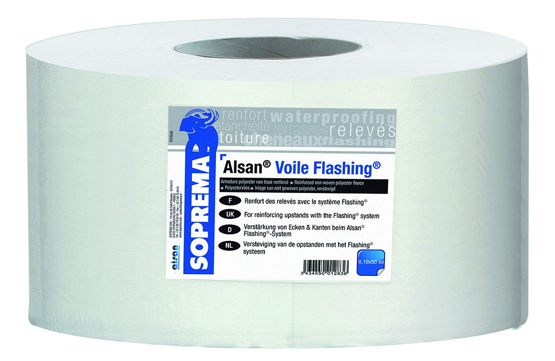 Alsan voile flashing SOPREMA - 50 m x 10 cm - 11572