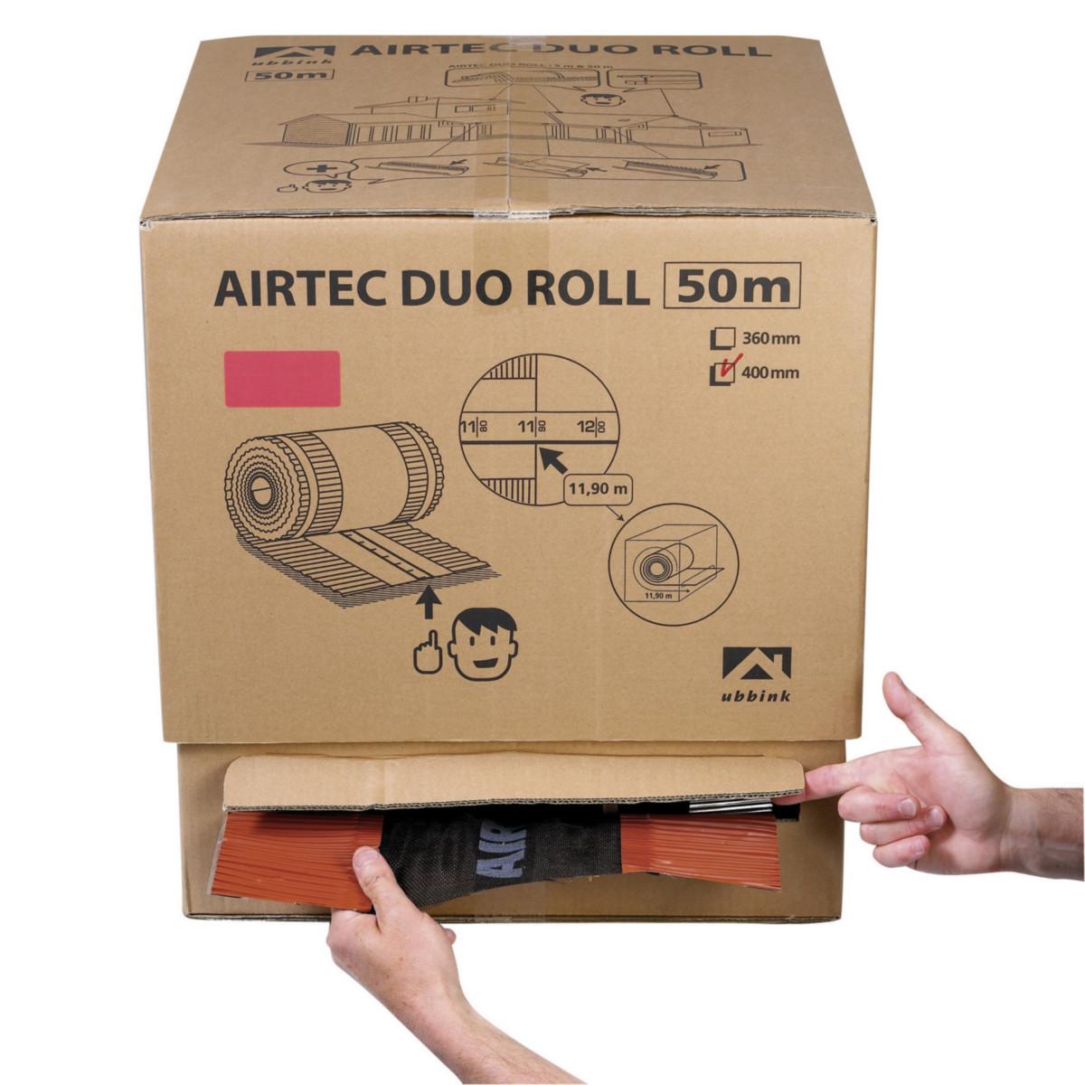 Closoir de faîtage Airtec Duo Roll UBBINK - ocre - 50 m x 400 mm en carton dérouleur - 203780