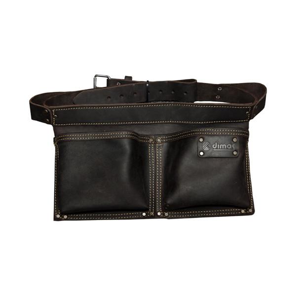 Poche à clous rectangulaire cuir DIMOS avec ceinture et 2 compartiments - 205735