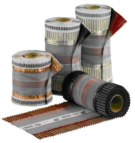 Closoir de faitage Ventitop HPI - 370 mm rouge brique - 5m - KR1370-0100