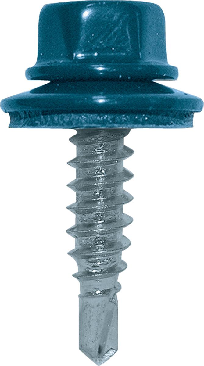 Vis couturage Colorvis 4.8x20 ETANCO - Tête ral 5008 bleu ardoise - 100 pièces - 285700008