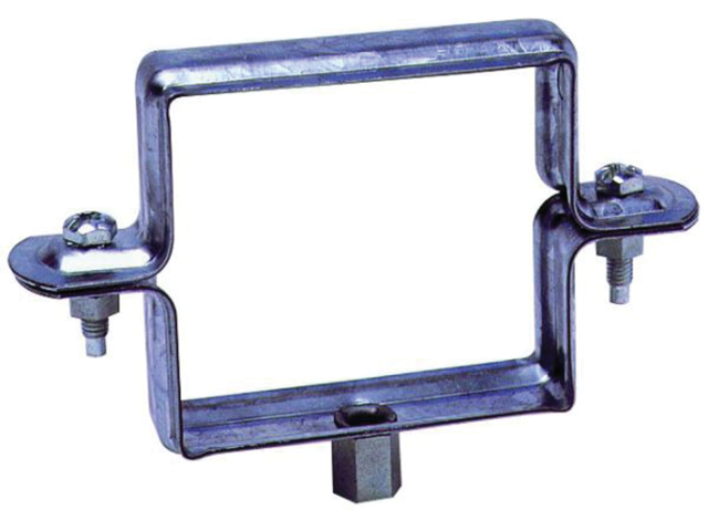 Collier carré 80x80 Naturel Embase 7x150 FRENEHARD - QSFCF1780/C