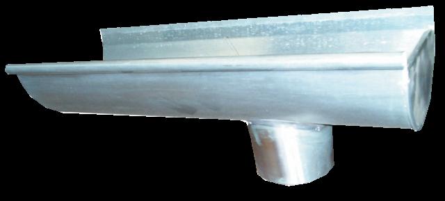 Embout talon et moignon de 25 Zinc Naturel - Droite - AZN142025