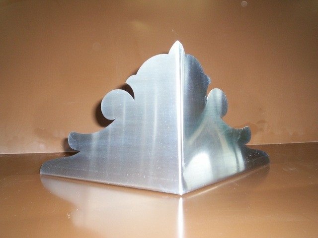 Enjoliveur d'angle 33 extérieur  - Zinc naturel - AZN130033