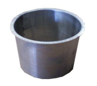 Naissance plate Quartz Zinc  - Ø80 mm - 10 pièces - AQU111080