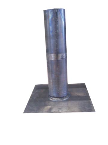 Platine aluminium droite  - Ø 80 mm