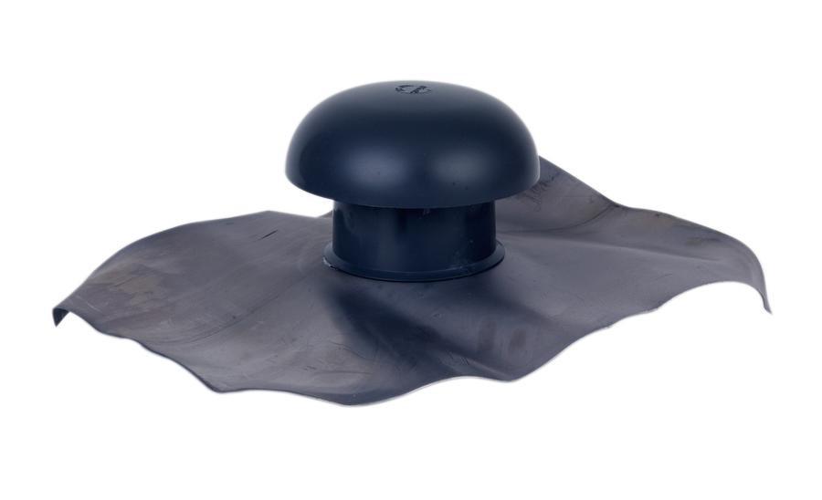 Chapeau de ventilation simple Ardoise Ø100 mm NICOLL - CD10
