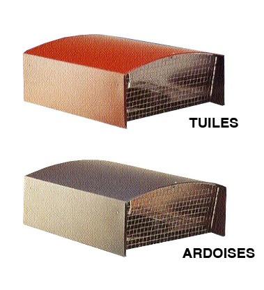 Chapeau de toiture plastique CTP125  - ardoise - 6058