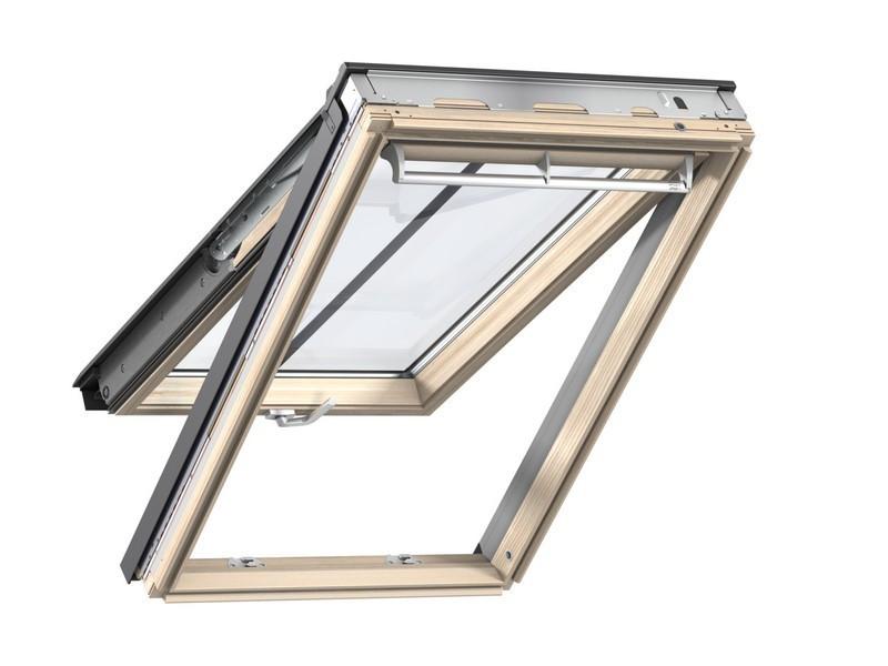 Fenêtre de toit VELUX à projection - Tout confort - Finition bois - 78 x 98 cm - GPL MK04 3057