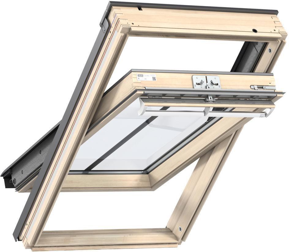 Fenêtre de toit VELUX à rotation 134x98 cm - Tout confort Bois - GGLUK04 3057