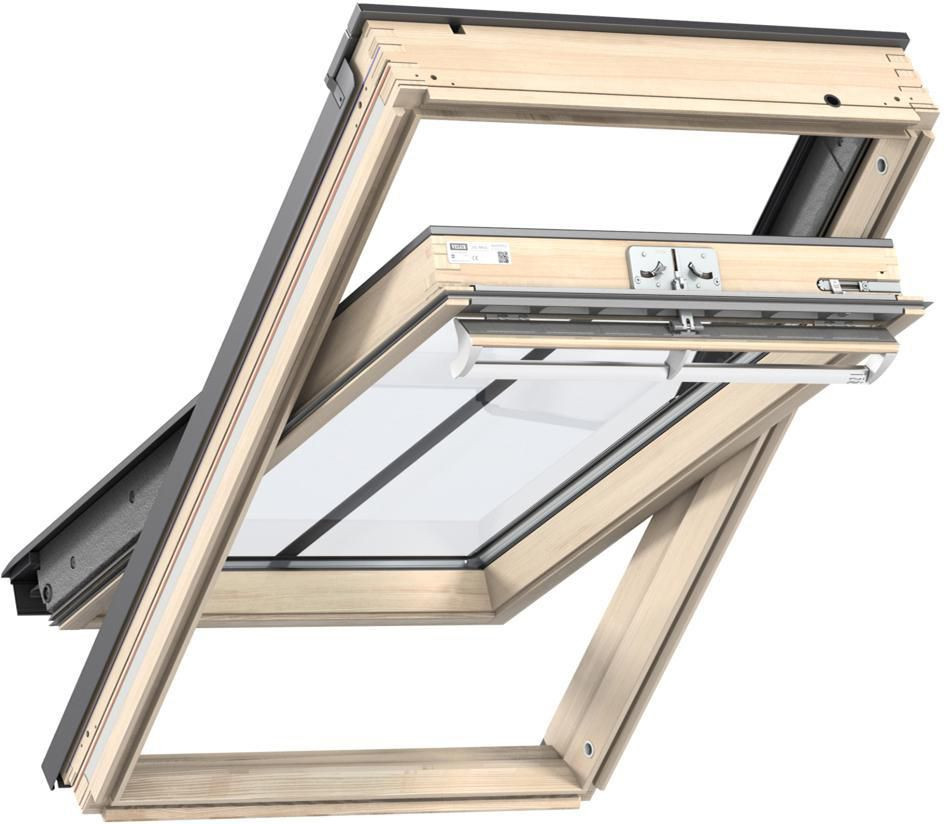 Fenêtre de toit VELUX à rotation 134x140 cm - Tout confort Bois - GGLUK08 3057