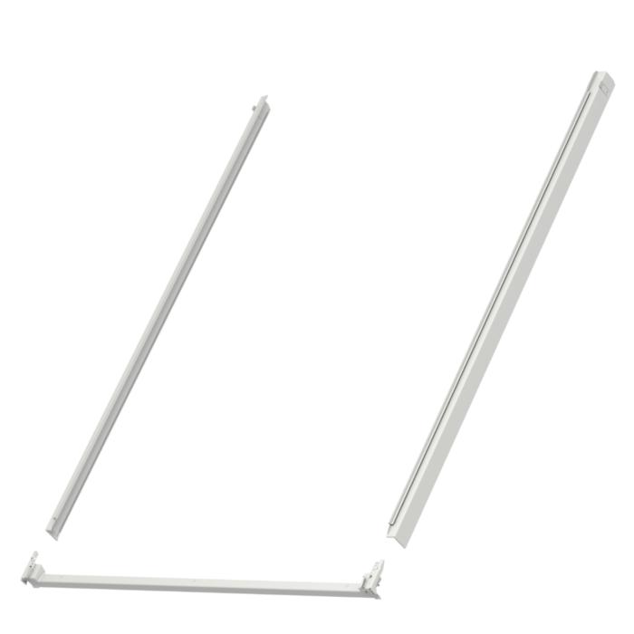 Kit profilés latéraux et traverse basse VELUX 78x118cm gris pour fenêtre de toit - ZWC MK06 0000