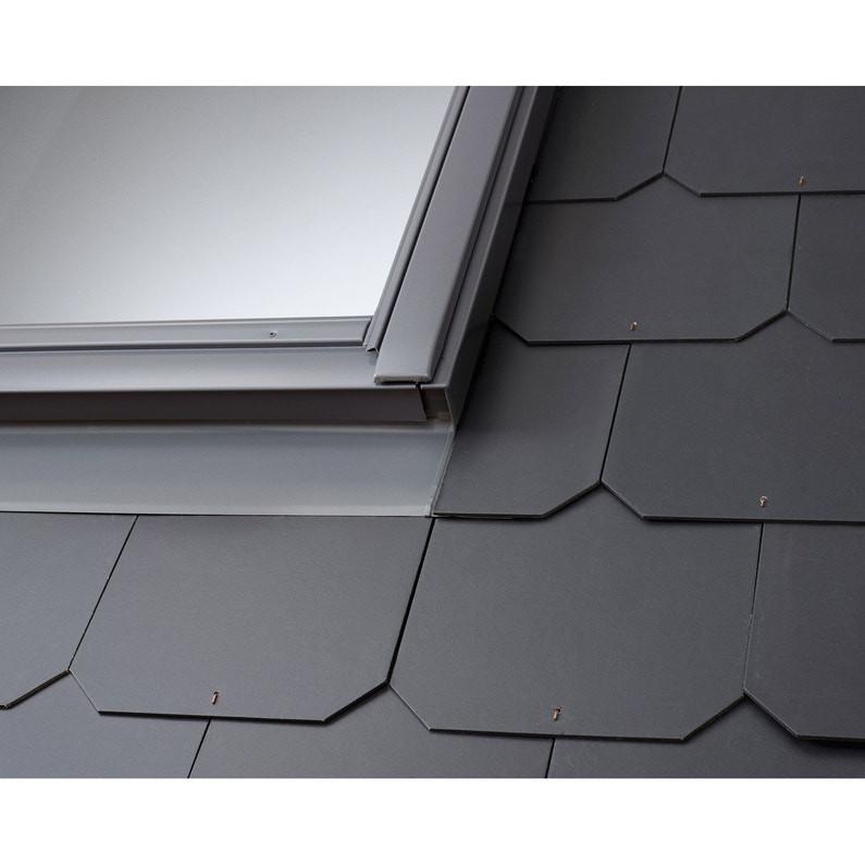 Raccord pour ardoises Gris VELUX 55x78 cm - matériaux plats jusqu'à 8 mm - EDL CK02 0000