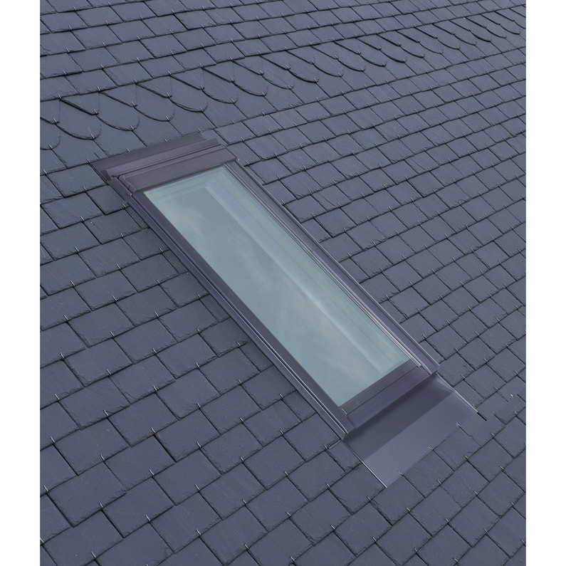 Raccord pour ardoises Gris VELUX 55x98 cm - matériaux plats jusqu'à 8 mm - EDL CK04 0000