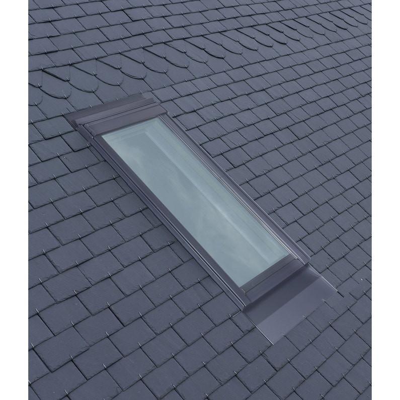Raccord pour ardoises Gris VELUX 134x98 cm - matériaux plats jusqu'à 8 mm - EDL UK04 0000