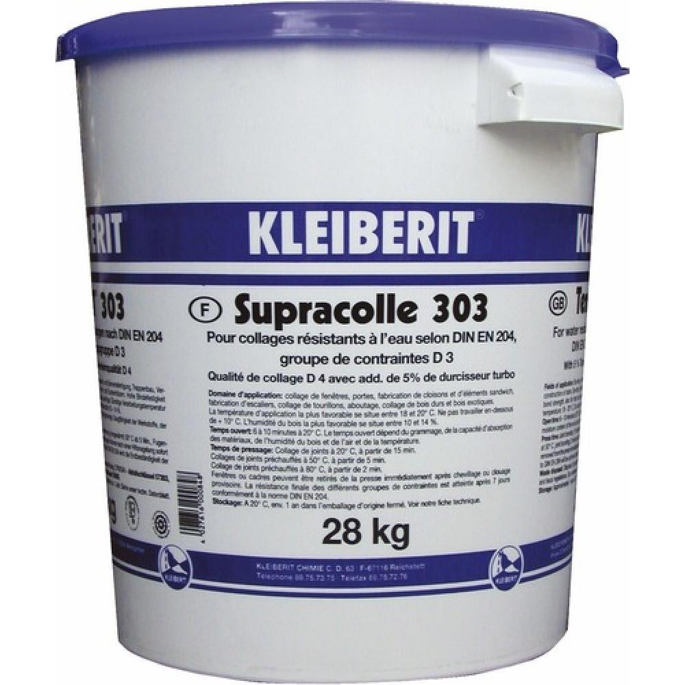 Colle vinylique D3/D4 KLEIBERIT 303.0 - seau 28kg avec membrane pour vanne - 303.0.3005