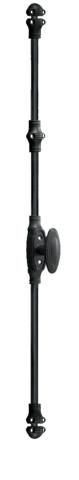 Crémone décorative fonctionnelle MAP noir mat à béquille - avec accessoire - 37456