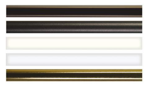 Tringle pour crémone ROLLINGER 16x8 L.2500 mm - Blanc 9016 - TR168/25EB