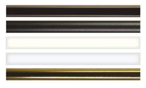 Tringle pour crémone ROLLINGER 16x8 L.2500 mm - Époxy noir sablé - TR168/25VN