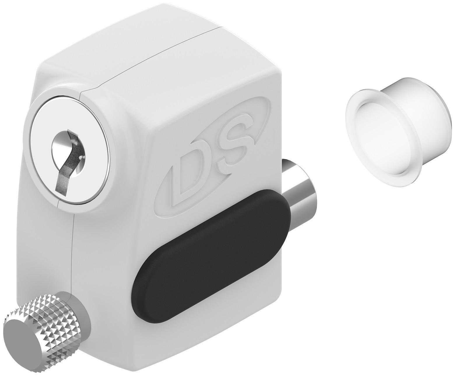 Verrou à clé pour coulissant CROISEE DS - blanc - 2586