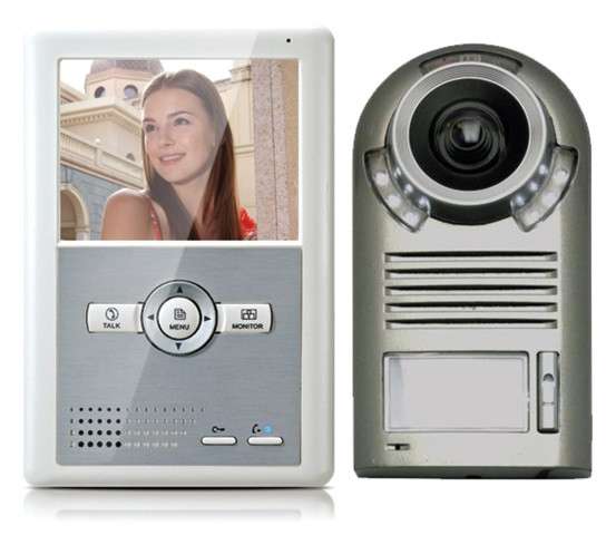 Portier vidéo couleur Proem TECHNO EM écran 4'' - kit MDC-2F4