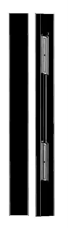 Kit bandeau rénovation 2500 mm avec 2 ventouses 300 kg INTEGRAL SYSTEME - Noir - 610042