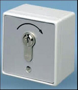 Contacteur à clé en applique INTEGRAL microswitches rouges 75x75x50 mm - 802002