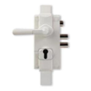 Serrure 300 en applique verticale 3 points réversible Blanc H.2040mm sans cylindre + Entretoise 2.5mm MUL-T-LOCK - S300B