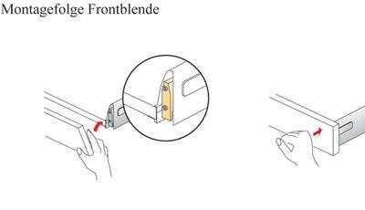 Gabarits de perçage HETTICH pour la fixation du bandeau - 78097