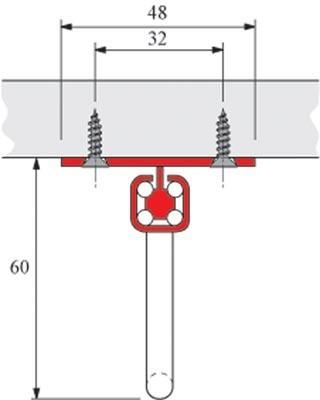 Support de cintres HETTICH avec coulisse sur la base de Quadro - 400 mm - Argenté - 9136277