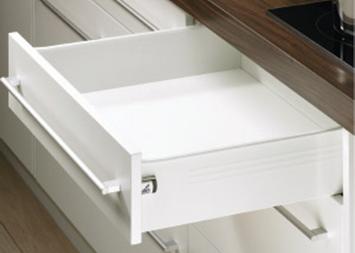 Paire côté de tiroir Blanc HETTICH MultiTech 118 x 500 mm - simple paroi s.partielle - 9127899