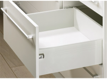 Paire côté de tiroir Blanc HETTICH MultiTech 150 x 275 mm - simple paroi s.partielle - 9127905