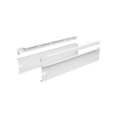 Paire côté de tiroir Blanc HETTICH MultiTech 86 x 400 mm - simple paroi - 9127881