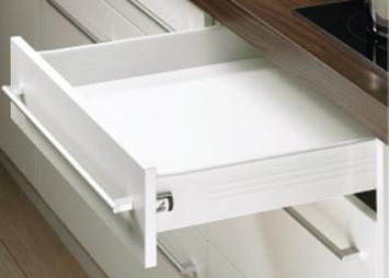 Paire côté de tiroir Blanc HETTICH MultiTech 86 x 350 mm - simple paroi - 9127879