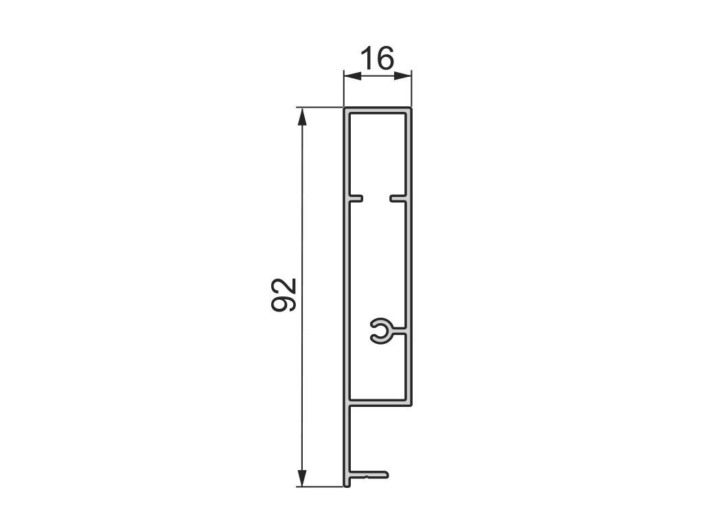 Façade pour tiroir à l'anglaise 1100 mm EMUCA - 4190425