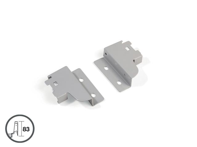 Fixations pour côté - hauteur 141 mm - finition alu - pour tiroir 1 réhausse - 3006625