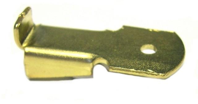 Taquet standard pour crémaillère acier MONIN SAS - Longueur 32 mm - Acier laitonné - 522110